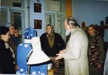 В иконописной мастерской храма с о. Александром Куликовым, И.В.Ватагиной, И.В.Лабазновой