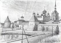 Рисунки прот.Николая Чернышева, сделанные на Соловках