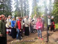 Лития на кладбище узников на Секирной горе