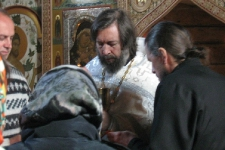 Литургия в храме св. ап. Андрея на Заяцком о-ве