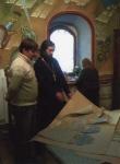 о.Николай, работа над стенописью