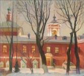 Е.И.Степура, Храм Николая в Кленниках, зима 2008 г., холст, масло
